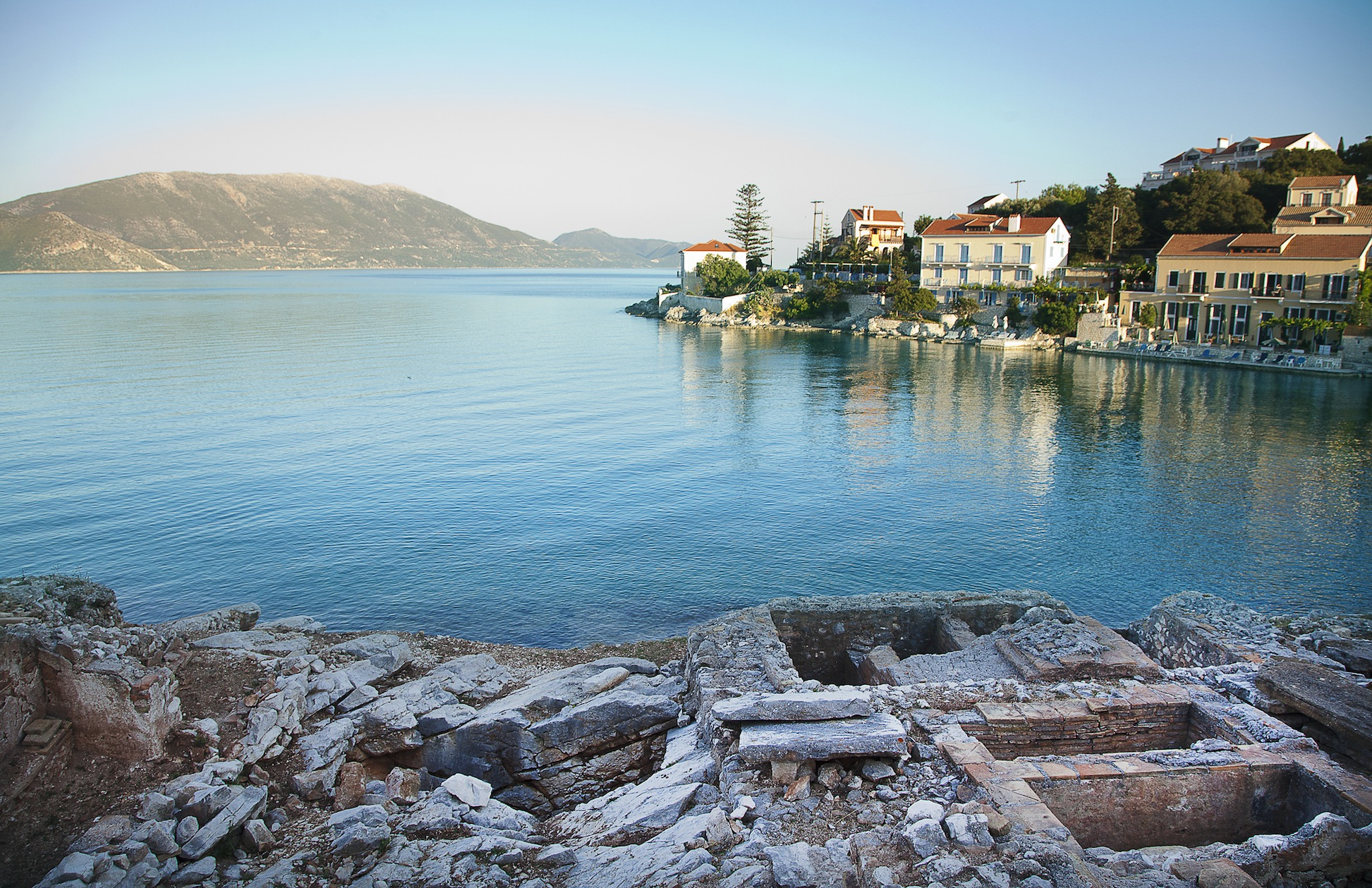 Ancient Roman tombs in Fiscardo